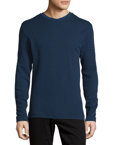 Textured Long-Sleeve Sweater, Multi