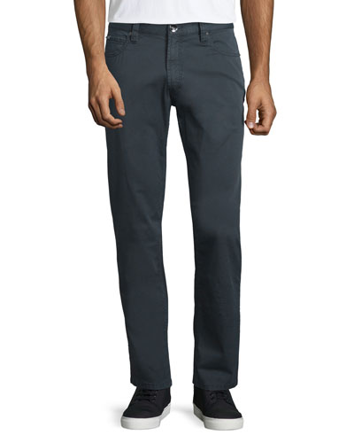 Five-Pocket Stretch-Cotton Pants, Charcoal