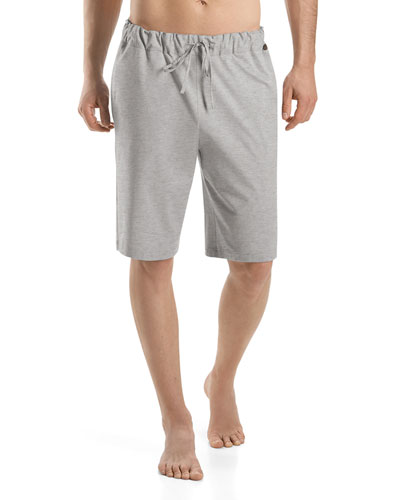 Night & Day Knit Lounge Shorts, Light Gray