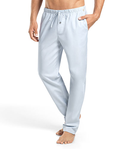 Alvaro Woven Lounge Pants, Light Blue