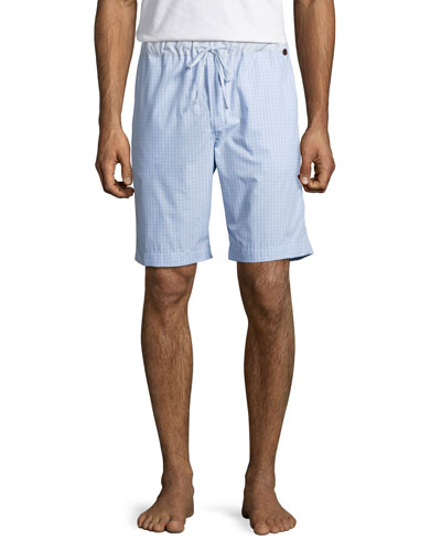 Night & Day Check Lounge Shorts, Blue