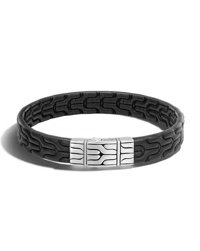 Classic Chain Men's Leather Bracelet