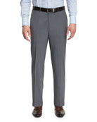 Ermenegildo Zegna High-Performance Wool Twill Trousers, Gray