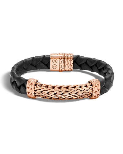 Men's Classic Chain Bronze Station Bracelet