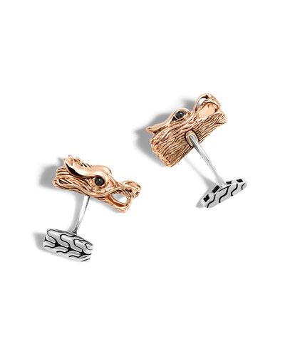 Men's Legends Naga Bronze Cuff Links