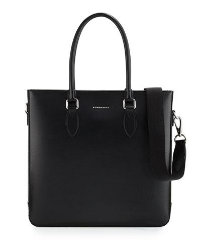 Kenneth Men's Leather Tote Bag, Black