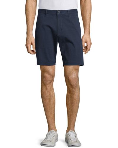Zaine S Witten Flat-Front Shorts, Navy