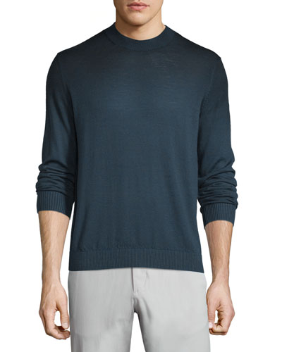 Remsey Castelle Faded Crewneck Sweater, Navy