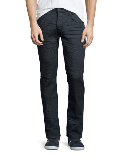 Blake Vault Slim-Straight Jeans, Dark Gray