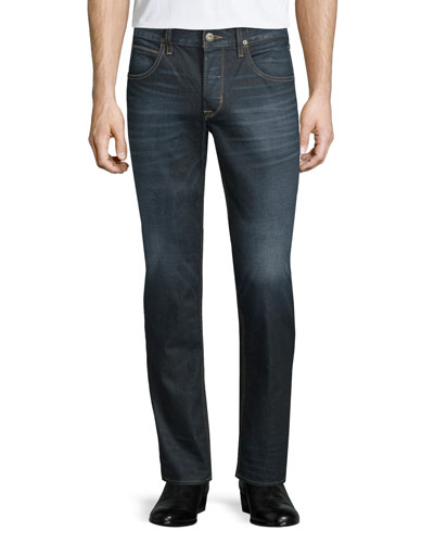 Men's Blake Dunlin Washed Denim Jeans, Blue