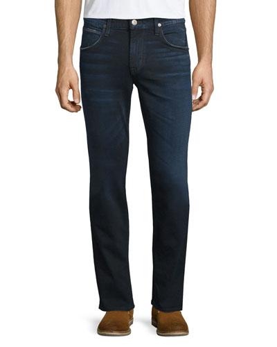 Blake Polaris Slim-Straight Denim Jeans, Dark Blue