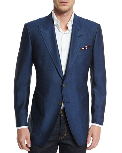 O'Connor Base Silk Sport Jacket, Blue