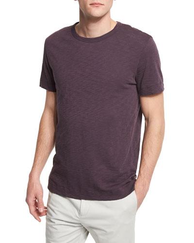 Gaskell Short-Sleeve Crewneck T-Shirt, Deep Rouge