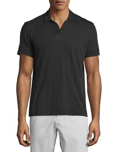 Willen Short-Sleeve Polo Shirt, Black