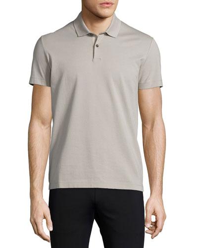 Sandhurst Short-Sleeve Pique Polo Shirt, Putty