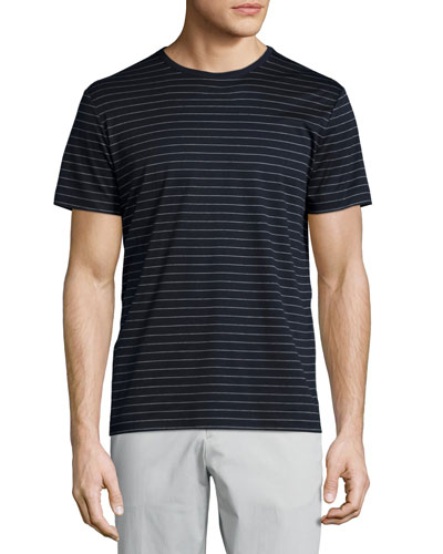 Andrion Striped Short-Sleeve T-Shirt, Eclipse