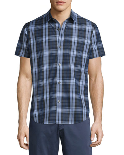 Rammis Short-Sleeve Plaid Shirt, Outer Multi