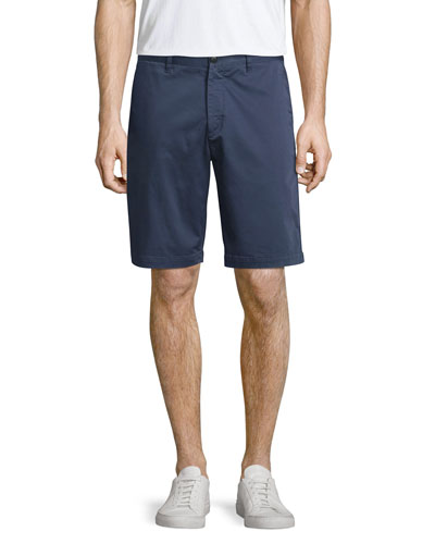 Brucer Flat-Front Shorts, Navy