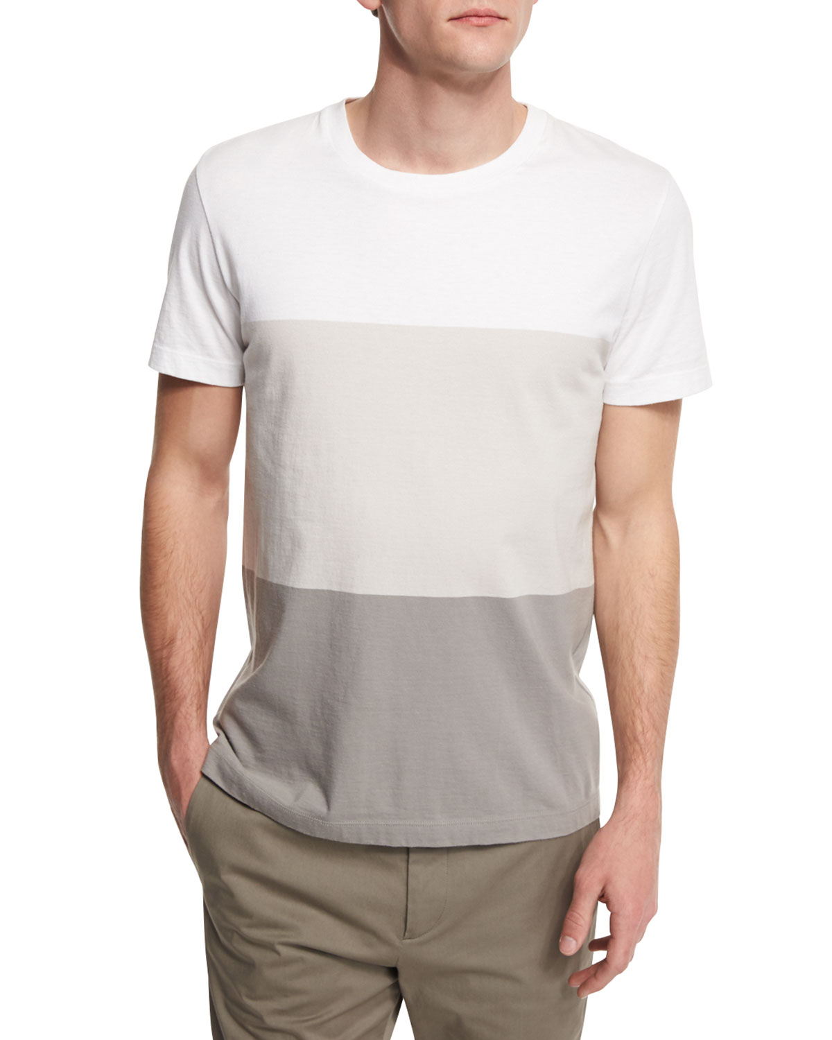 Koree Colorblock Short-Sleeve T-Shirt, White Multi