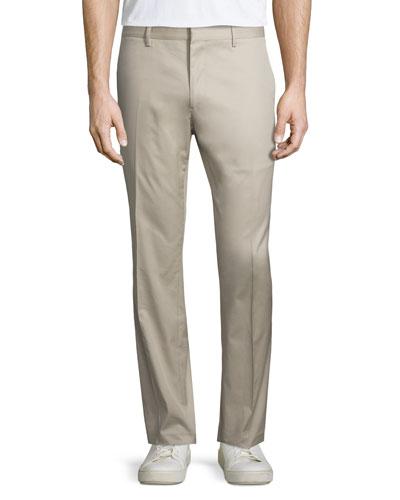 Slim-Fit Stretch Travel Trousers, Tan