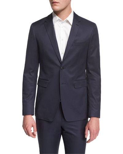 Modern-Fit Two-Button Jacket, Bright Steel Blue