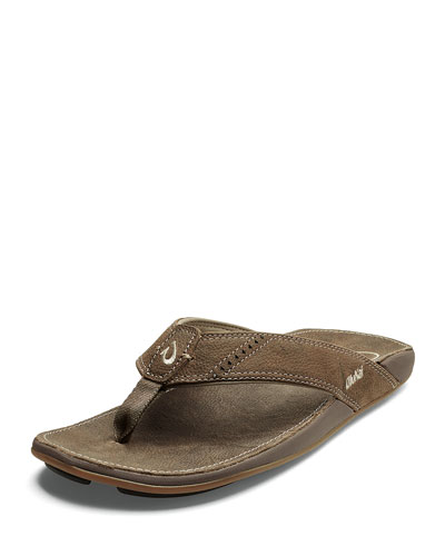 Nui Leather Thong Sandal, Tan
