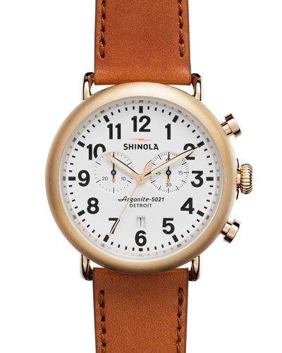 47mm Runwell Chronograph Watcher, Bourbon