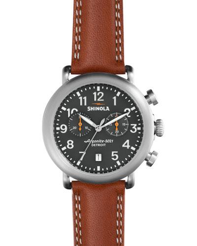 Men's 41mm Runwell Chronograph Watch, Tan/Gray
