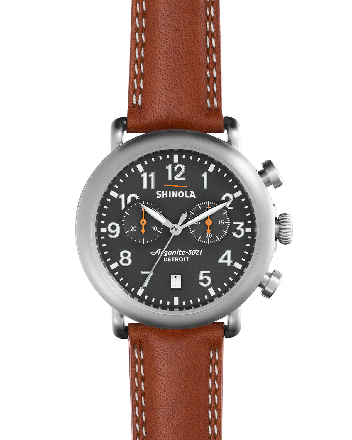 41mm Runwell Chronograph Watch, Tan/Gray