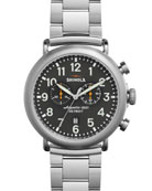 47mm Runwell Chronograph Watch, Steel/Gray