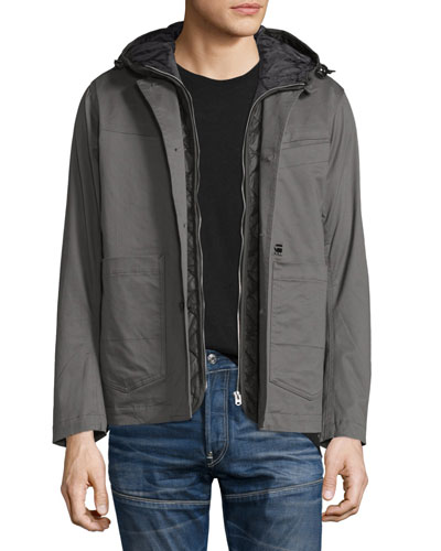 Bronson Hooded Blazer W/Removable Liner, Gray