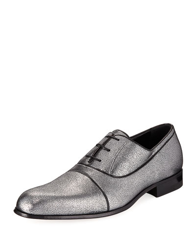 Black Label Glittered Oxford Shoe, Black