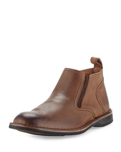Eugene Leather Ankle Boot, Espresso/Black