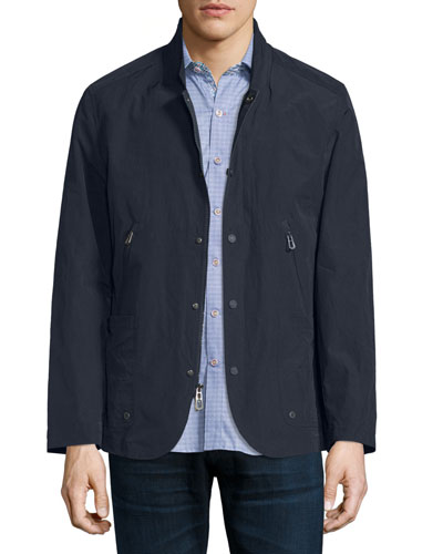 Cadiz Nylon-Blend Jacket, Navy
