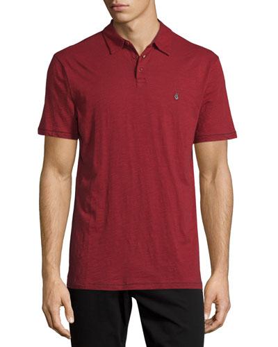Peace Short-Sleeve Polo Shirt, Red