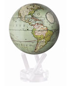 "Cassini Terrestrial 4.5"" Mova Globe, Seafoam"