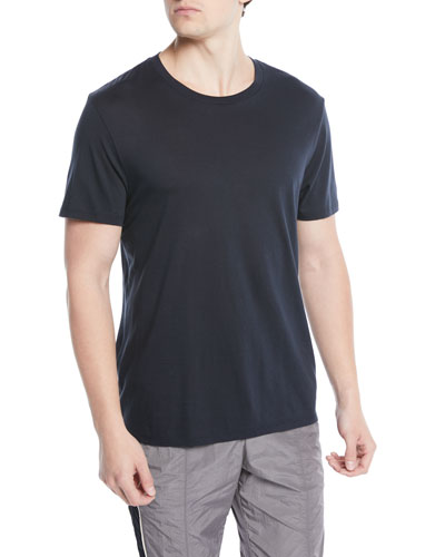 Short-Sleeve Pima Crewneck Jersey T-Shirt, Navy
