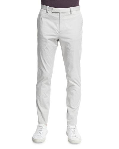 Lenix Flat-Front Stretch Knit Pants, Neutral