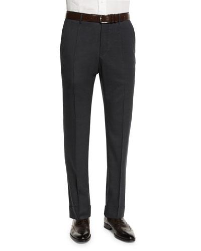 Benson Standard-Fit Lightweight Trousers, Charcoal