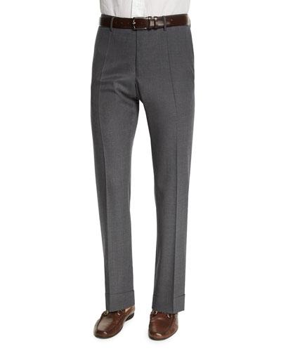 Benson Standard-Fit Lightweight Trousers, Gray