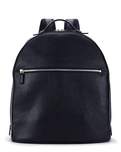 Revival Men's Leather Backpack, Blue