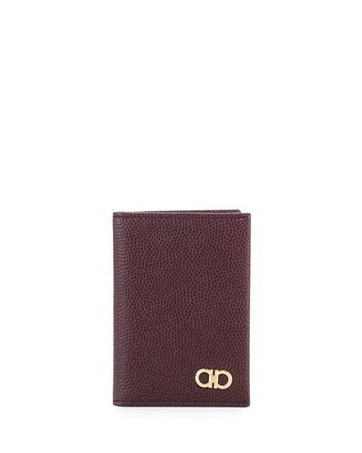 Ten-Forty One Bi-Fold Leather Card Case, Bordeaux