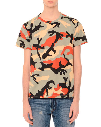 Camo-Print Short-Sleeve T-Shirt, Multi