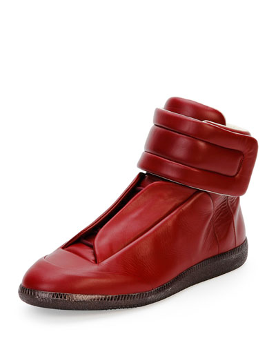 Future Leather High-Top Sneaker, Bordeaux