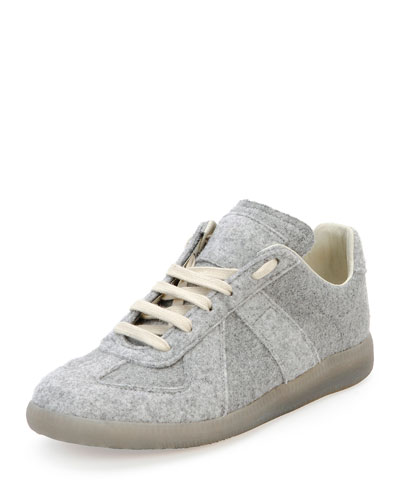 Replica Felt Low-Top Sneaker, Light Gray