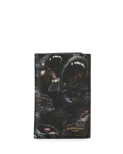 Monkeys Card Case, Black