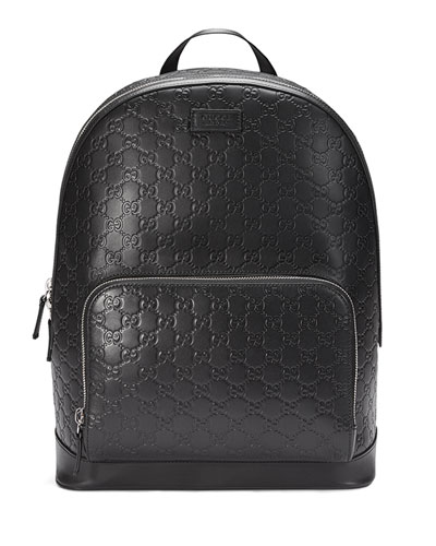 a6491bacb44 Quick Look. Gucci · Signature Leather Backpack ...