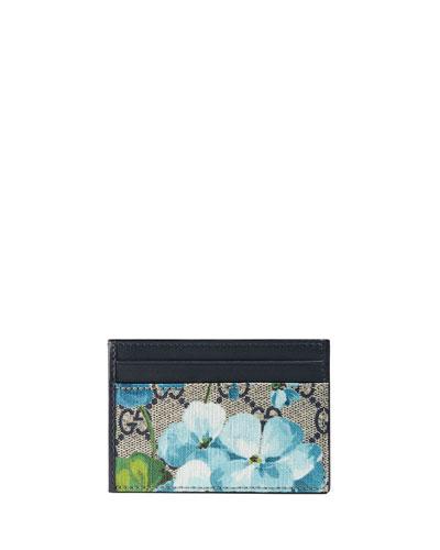 GG Blooms Card & Train Pass Case, Blue