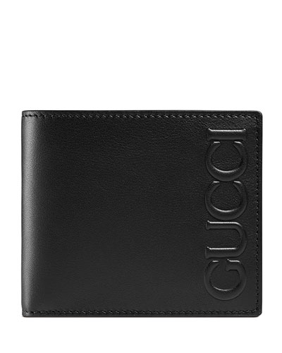 XL Leather Bi-Fold Wallet, Black