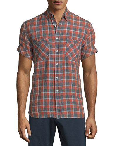 Donelson Plaid Short-Sleeve Shirt, Multi